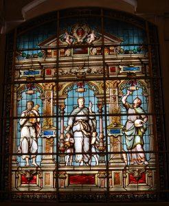 Voici le magnifique vitrail d'Emile Hirsch, restauré et reposé à la faculté de pharmacie de Paris…